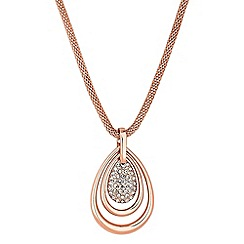 Mood - Rose gold pave peardrop necklace