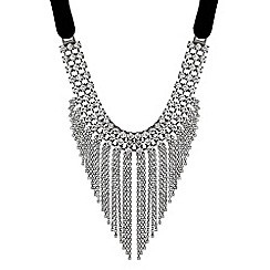Mood - Statement crystal tassel necklace