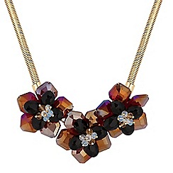 Mood - Floral beaded statement necklace