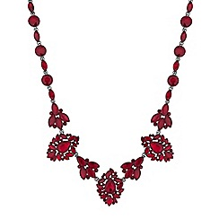 Mood - Red ornate crystal necklace