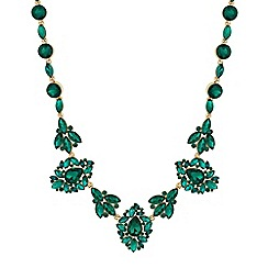 Mood - Green crystal ornate necklace