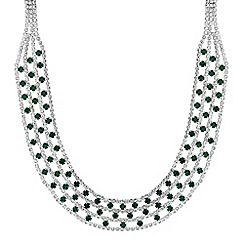 Mood - Green diamante collar necklace