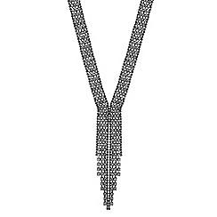 Mood - Diamante crystal lariat necklace