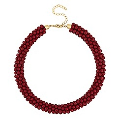 Mood - Red cluster bead necklace