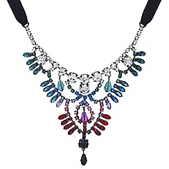 Mood - Crystal rainbow statement necklace