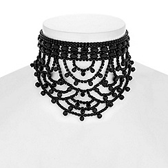 Mood - Jet diamante loop choker necklace