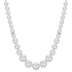 Mood - Pearl and crystal graduated necklace