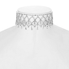 Mood - Diamante droplet choker necklace