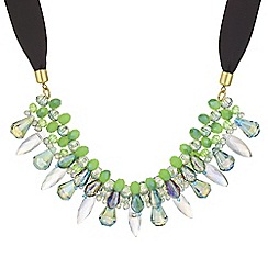 Mood - Green beaded necklace
