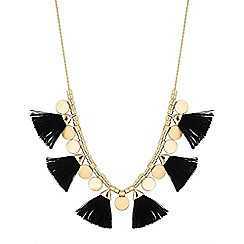 Mood - Tassel and disc toggle necklace