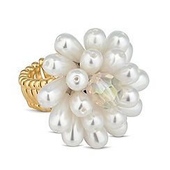Mood - Statement pearl cluster stretch ring