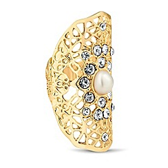 Mood - Pearl encased filigree stretch ring