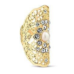 Mood - Pearl encased filigree stretch ring