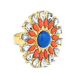 Mood - Navette surround floral adjustable ring