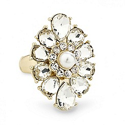 Mood - Pearl teardrop surround stretch ring