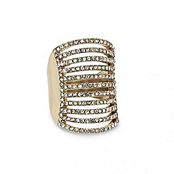 Mood - Diamante crystal multi row stretch ring