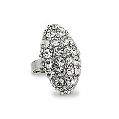 Mood - Crystal embellished diamond shaped ring