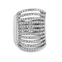 Mood - Diamante multi row adjustable ring