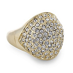 Mood - Pave crystal adjustable dome ring