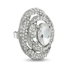 Mood - Crystal swirl surround adjustable ring