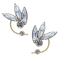 Mood - Set of two crystal top of ear cuff