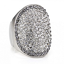 Mood - Silver pave crystal dome ring