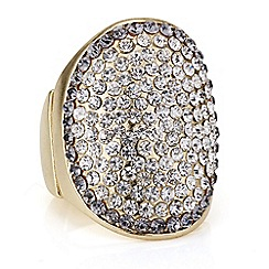 Mood - Gold pave crystal dome ring