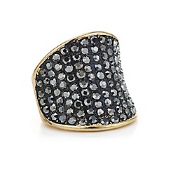 Mood - Jet pave crystal curved ring
