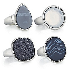 Mood - Set of four crystal ring pack