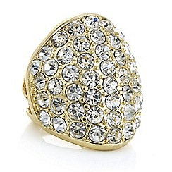 Mood - Gold pave dome ring