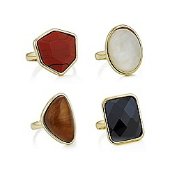 Mood - Gold mixed stone ring set