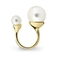 Mood - Statement open pearl sized ring