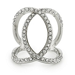 Mood - Crystal cross over ring