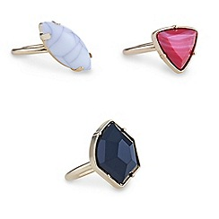 Mood - Mood Semi precious stone ring pack
