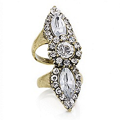 Mood - Gold crystal segment ring