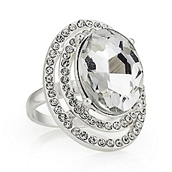 Mood - Silver oval statement ring
