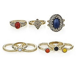 Mood - Multi colour ring set