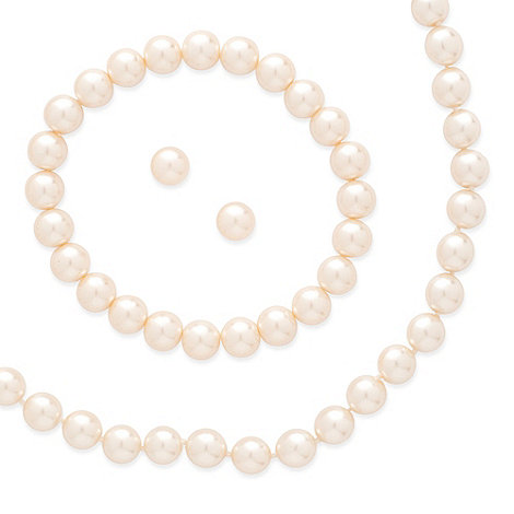 Mood - Matching cream pearl earring, necklace and bracelet set