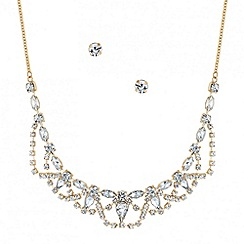 Mood - Diamante crystal and teardrop necklace and earring set