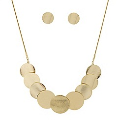 Mood - Polished and textured round disc jewellery set