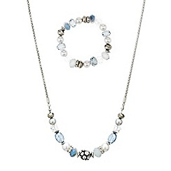 Mood - Pearl and bead stacker necklace and bracelet set
