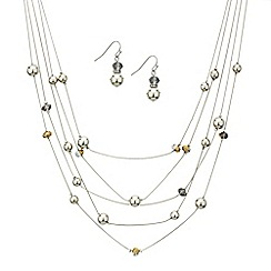 Mood - Bead and polished ball multi row jewellery set