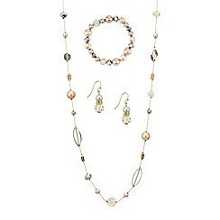 Mood - Mixed bead and pearl trio jewellery set