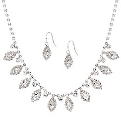 Mood - Diamante crystal navette drop jewellery set