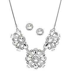 Mood - Mixed crystal cluster triple drop jewellery set