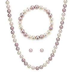 Mood - Tonal pink pearl trio jewellery set