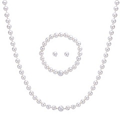 Mood - Diamante spotted pearl jewellery set