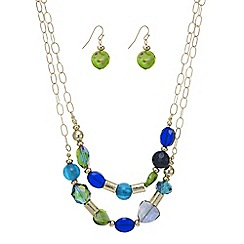 Mood - Green murano glass necklace with matching earring