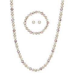 Mood - Peach pearl jewellery set
