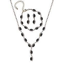 Mood - Black navette diamante jewellery set
